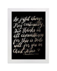 Be Joyful Always Marketplace Art Print