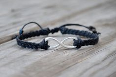 Unisex Infinity Bracelet - Adjustable, Silver Infinity Bracelet, Adjustable Mens Infinity Bracelet, Sister, Best Friend, Couples Bracelet
