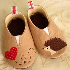 Felt Hedgehog Shoes