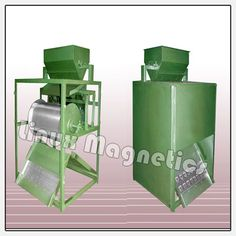Single Drum Type Magnetic Separators are available for in medium and high intensity magnet. The material passes through the magnet drum type Machine respectively. These are widely used for separation of iron contamination from Minerals, Chemicals, Refractories and many other products. High power permanent Magnetic Plate is provided at material outlet.