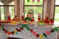 Adorable Hungry Caterpillar dessert table  #hungrycaterpillar #desserttable
