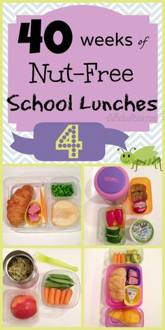 Week 4 of 40 Weeks of Nut Free Allergy Kids School Lunches StuffedSuitcase.com #peanut #free #lunch