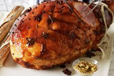 Stylish Home Decors, Food Recipes, Beauty Care Recipes: Ginger and maple-glazed Christmas ham Recipe Christmas Ham Recipes, Christmas Dishes, Holiday Recipes, Christmas Time, Christmas Goodies, Holiday Ideas, Aussie Christmas, Christmas Meals, Christmas Cooking