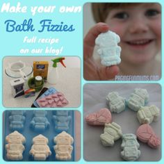 DIY Bath Fizzies! Great Fun for Bath Time! http://pagingfunmums.com/2013/08/11/diy-bath-fizzies-great-fun-for-bath-time/