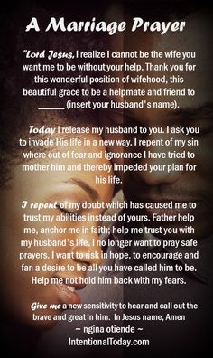 A marriage prayer is part of Prayer for wife - Prayer For My Marriage, Prayer For Wife, Praying Wife, Godly Marriage, Marriage Relationship, My Prayer, Happy Marriage, Marriage Advice, Love And Marriage