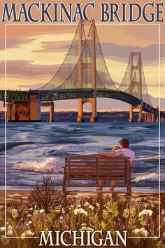 Mackinac Bridge Michigan (Lantern Press)