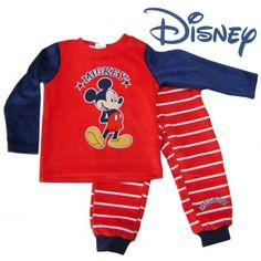 Pijama  terciopelo mickey
