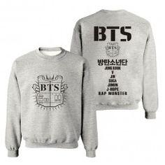 Blusa BTS Hip Hop Fashion, Kpop Fashion, Mens Fashion, Blusas Do Bts, Winter Hoodies, Mens Sweatshirts, Goodies, Swag, T Shirt