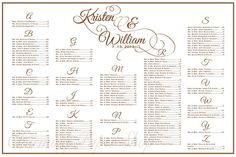 Wedding Seating Chart Table Ignments Reception Tables Plan