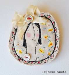 free machine embroidered brooch   Flickr - Photo Sharing!