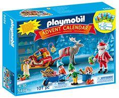 Playmobil – 5494 – Calendrier De L'Avent Exclusif- Atelier De Jouets Avec Père Noël Et Lutins – Collector: Ce calendrier contient 24 vraies…