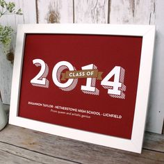 Personalised School Leavers Print 'Class of' Design