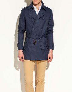 le blue trench coat - zara