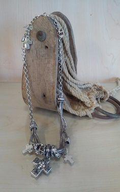 Cross -Multi Strand Cross & Earrings Set