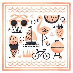 Illustrator Valerie Jar - signs of summer