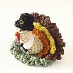 Crochet Turkey - Gobble Gobble!  Designed this guy for our Thanksgiving fun. www.cuddlebugkids.com