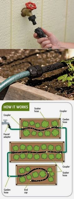 Easy garden watering  The whole system only took about 30 minutes to install. I had never dealt with any plumbing at all before and it was extremely easy. The snap nozzle at the end of the hose is great and quick if I need to use the other end of the hose for something else. It's great! You can get the Snip-n-Drip Soaker System from amazon. #GardenWater  #EasyGardening