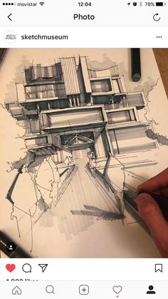 Unbelievable Modern Architecture Designs – My Life Spot Architecture Sketchbook, Architecture Portfolio, Architecture Details, Architecture Design, Perspective Sketch, Interior Design Sketches, Sketch Markers, Sketch Painting, Vintage Design