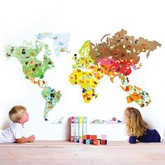 Cool World Map Decals To Get Kids Excited About Geography Travel - Big world map for kids