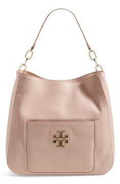 Tory Burch 'Britten' Leather Hobo available at #Nordstrom