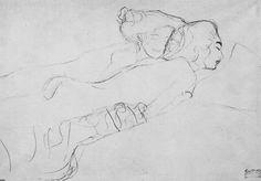 by Gustav Klimt Gustav Klimt, Klimt Art, Figure Painting, Figure Drawing, Painting & Drawing, Vienna Secession, Drawing Sketches, Drawings, Japanese Art
