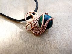 Beautiful copper wire wrapped agate pendant by MoonraysJewellery