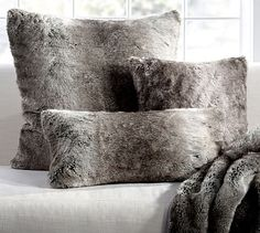 "Faux Fur Pillow Cover -Color:  Light Fox Size: 26""x 26"" #potterybarn"