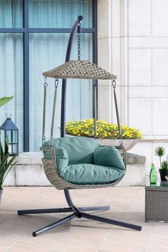 Hanging Egg Chair, Swinging Chair, Patio Chairs, Outdoor Chairs, Hammock Chair Stand, Patio Swing, Accent Chairs For Living Room, Outdoor Gardens, Wicker