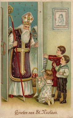 saint nicolas - Page 9 Old Fashion Christmas Tree, Vintage Christmas Images, Cozy Christmas, Father Christmas, Retro Christmas, Christmas Pictures, Christmas Greetings, Primitive Christmas, Country Christmas