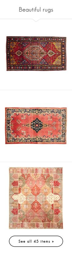 Beautiful rugs by snowbirdy on Polyvore featuring home, rugs, red rug, persian area rugs, hand knotted persian rugs, hand knotted rugs, persian style rugs, red, persian rugs and red area rugs