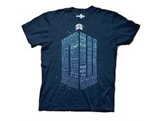 Doctor Who Logo of Words Navy Blue T-Shirt