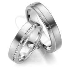 10K White Gold His & Hers Mens Womens Matching by TallieJewelry
