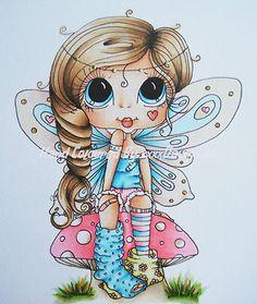 Ooak Card Topper Image, Sherri Baldy Cute As Saturated Canary Hand Coloured   eBay