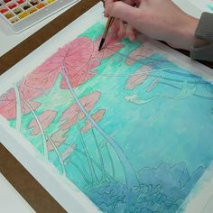 Watercolor Art Lessons, Watercolor Drawing, Watercolor Illustration, Painting & Drawing, Watercolor Paintings, Watercolor Mermaid, Cool Art Drawings, Art Drawings Sketches, Gouache