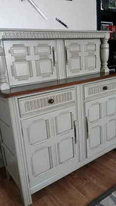 SOLD Amazing Antique Buffet Sideboard.