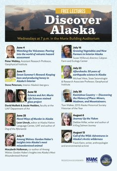 Discover Alaska Series - Free public lectures about research, art and life in Alaska!