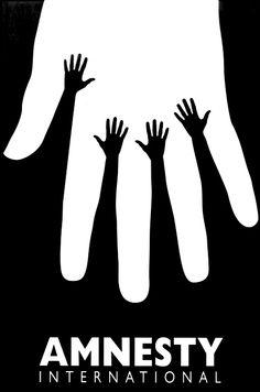 Amnesty International Design: Amnesty International, 1995 (Israel)A poster for the Israeli branch by graph.Credit: Amnesty International Design: Amnesty International, 1995 (Israel)A poster for the Israeli branch by graph. Graphic Design Posters, Graphic Design Illustration, Graphic Design Inspiration, Typography Design, Poster Designs, Simple Poster Design, Design Graphique, Art Graphique, Design Art
