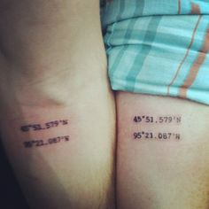 get matching tattoos! On our honeymoon Travis and I got the gps coordinates of the church where we were married!