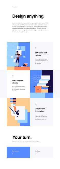 Stylish Web Design for Personal Website and Portfolio for Horizontal slider
