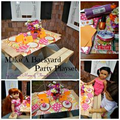 How-To Doll Craft – Create a Backyard Party Play Set