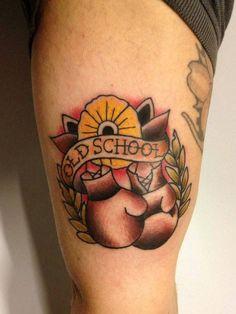 Boxe Traditional Tattoo Flash Tatuaggio Guantoni By Daniele Del Conte Pinut