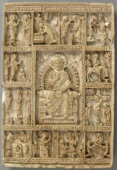 """Icon with Christ Pantepotes and the Chorus of Saints"" century Steatite x x cm NA The Metropolitan Museum of Art New York City, NY Byzantine Icons, Byzantine Art, Art Roman, Empire Romain, Religious Art, Religious Images, Medieval Art, Sacred Art, Christian Art"