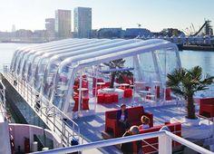 AirClad, Inflatable Bar on Antwerp's Badboot Boat, Inflatable Bar on Antwerp's Badboot Boat AirClad - http://architectism.com/inflatable-bar-antwerps-badboot-boat-airclad/