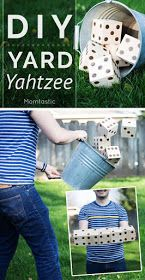 oversized DIY yard yahtzee