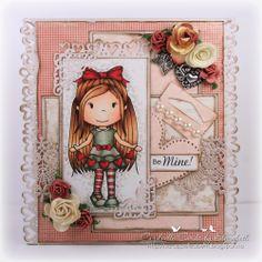 Cardville- Elizabeths Kreative sider: GDT Paper Nest Dolls- Valentines day card