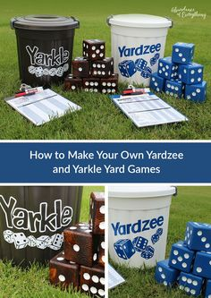 Backyard games 496803402646229824 - Summer is finally here and what better way to enjoy the outdoors with family and friends than some classic yard games; Yardzee and Yarkle. Source by malebolgianono Diy Yard Games, Lawn Games, Diy Games, Backyard Games, Outdoor Toys, Outdoor Fun, Outdoor Dining, Outdoor Lighting, Camping Games