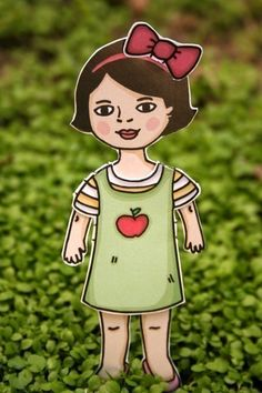 SUMMER FUN PAPER DOLL SET by Little Mo and by littlemoandfriends, $14.95