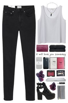 """""""Now I'm feeling drunk and high"""" by end-of-the-day ❤ liked on Polyvore featuring Status Anxiety, Acne Studios, Monki, American Eagle Outfitters, Novo, ASOS, NARS Cosmetics, Chapstick, DK and Clare V."""