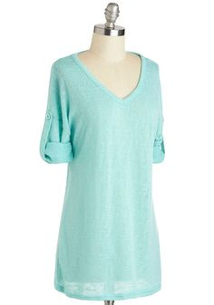 Off-Duty Artist Top, ~ Love the blue color #ModCloth