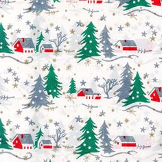 A collection of old illustrated gift wrap.